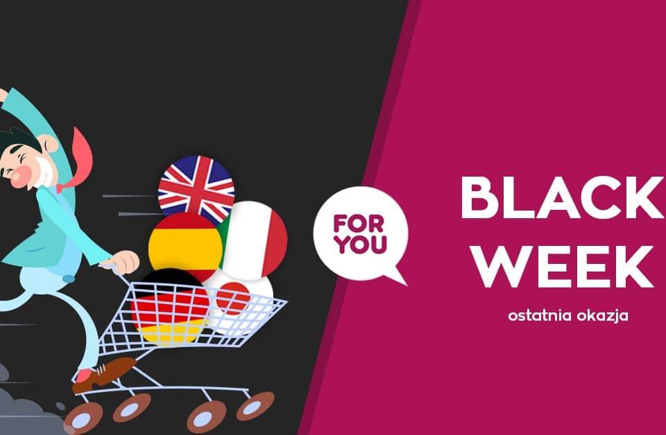 Black week w szkole językowej