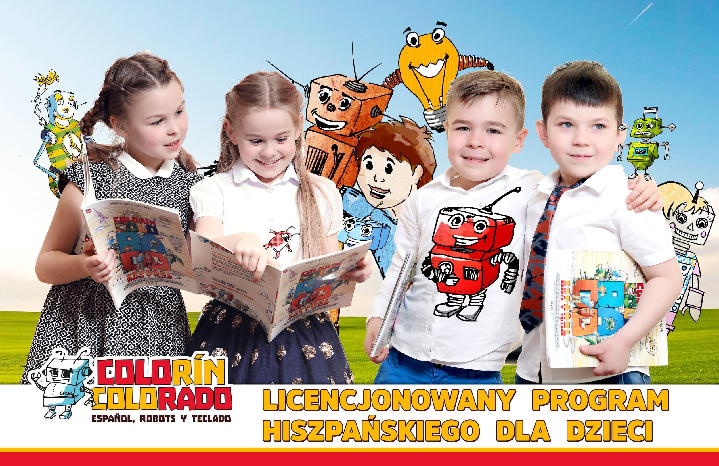 Dzieci podczas nauki języka hiszpańskiego