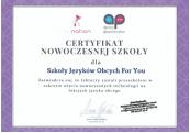 Certyfikat Nowoczesnej Szkoły